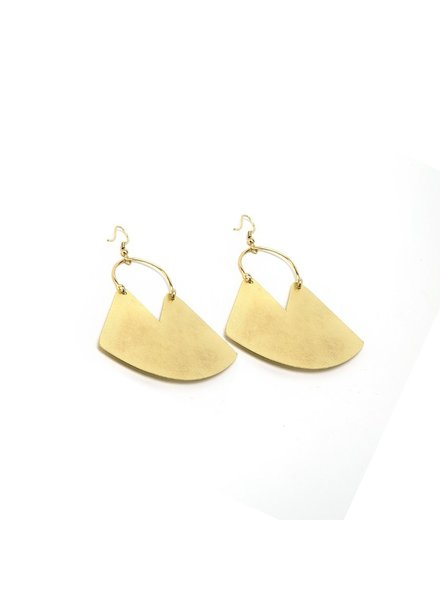 BAG PLAQUE EARRINGS