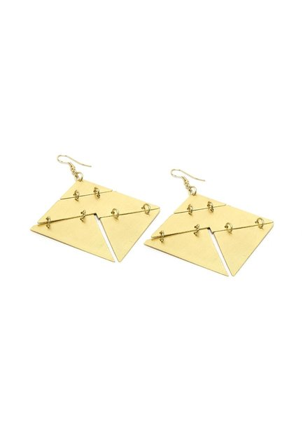 GEO PUZZLE EARRINGS