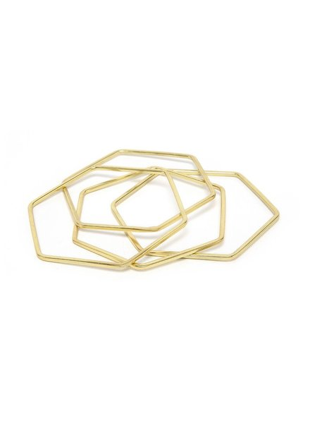 HEXAGON BANGLES 4 PCS SET