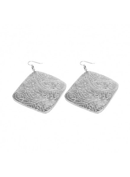 EARRINGS LOSANGE CACHEMIR