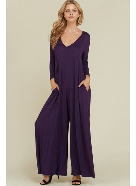 Plus size Palazzo hoodie jumpsuit