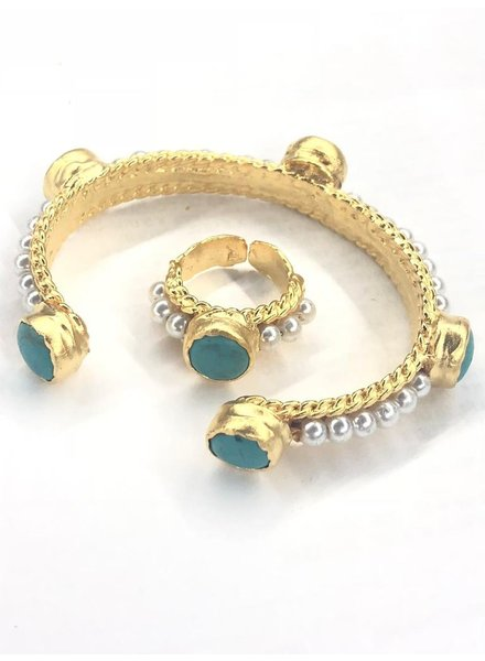 Set Cuff and pearl