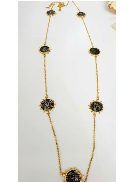 coin long necklace