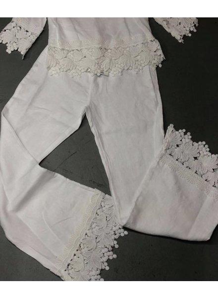 Palazzo linen/lace pant