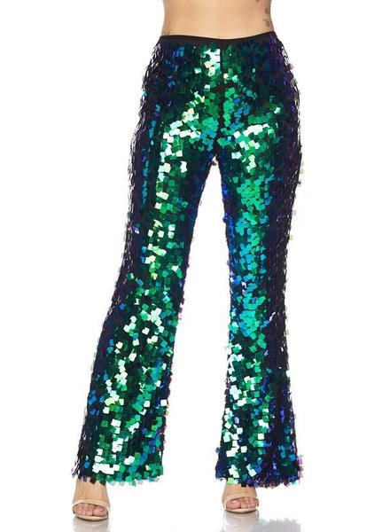 sequin scales pants