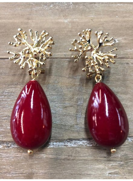 Red Gold Earrings(clip)