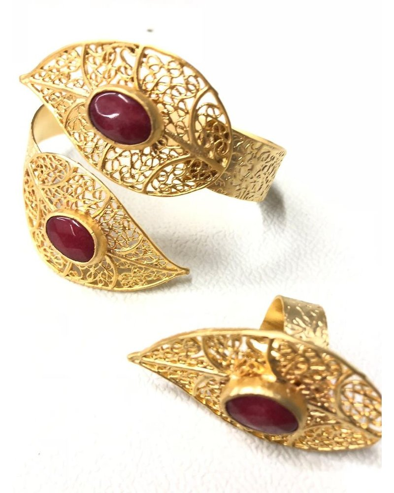 Leave Gold Plated Set