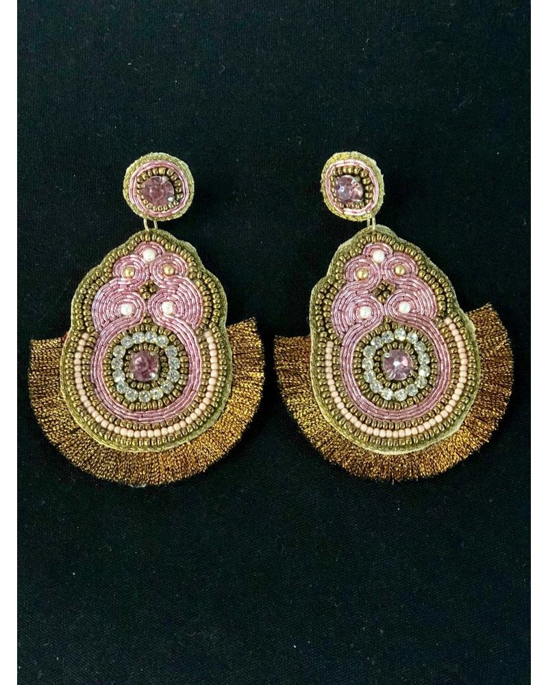 Hand Made Earring Pink