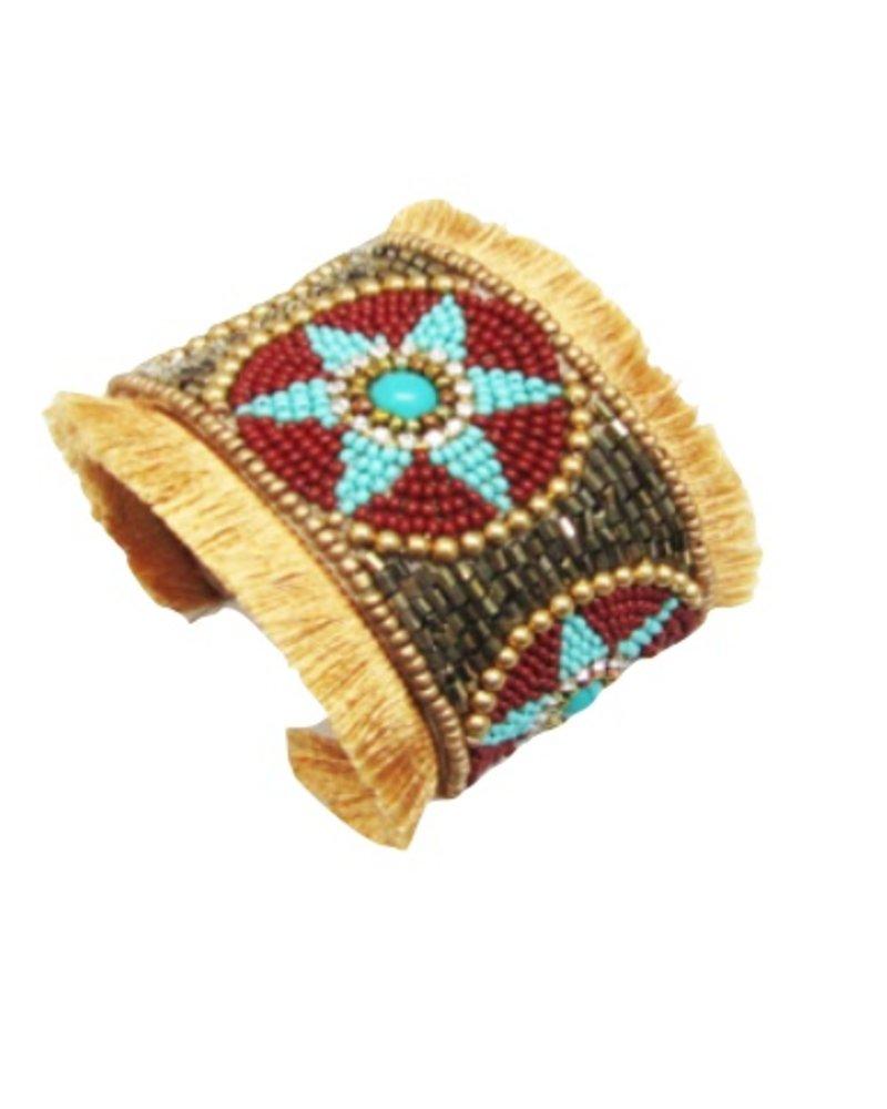 Bead Hand Made Cuff