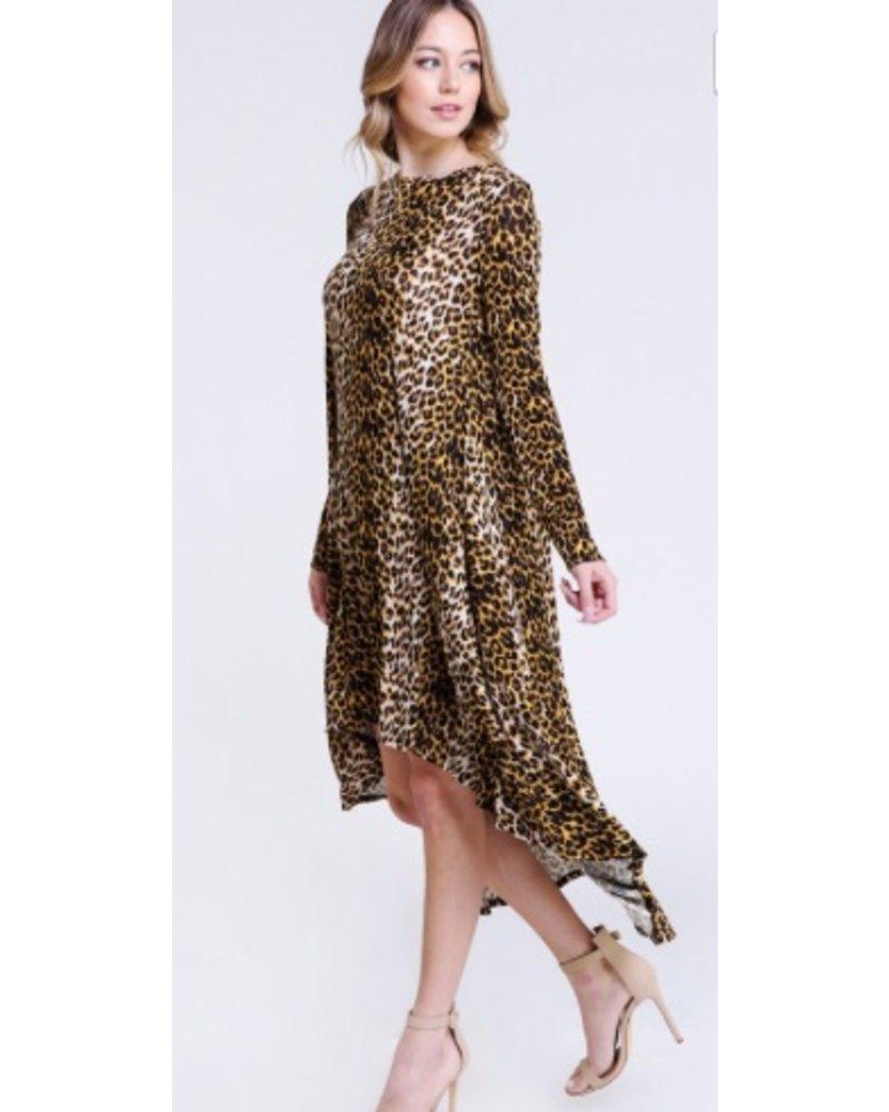 Cheetah Hi Low Dress