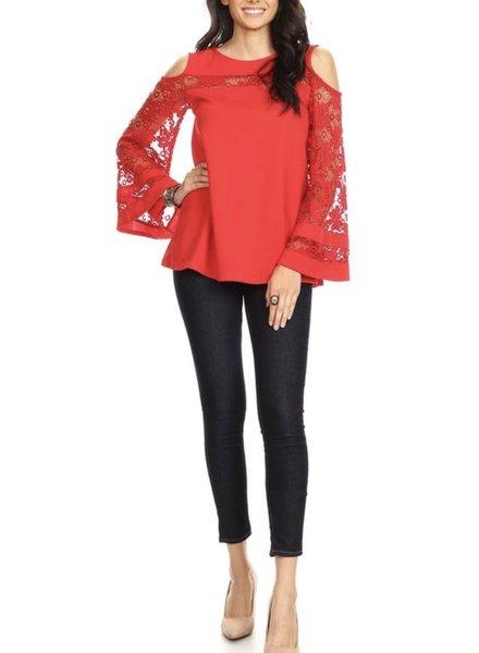 Red Crochet Top