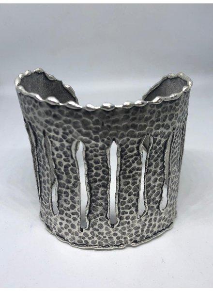 Silver 3 line cuff