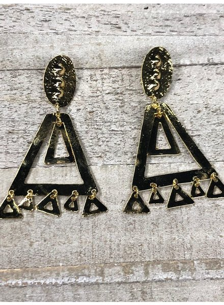 Colombian earrings<br /> Gold Plated