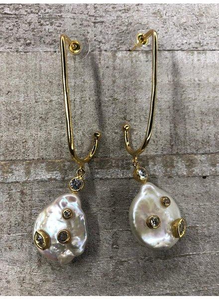 Mother of Pear earrings