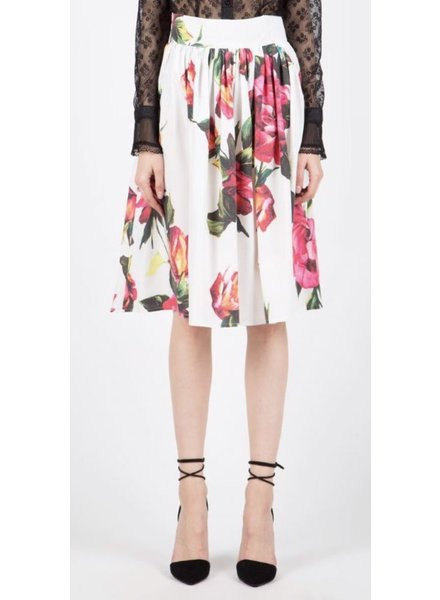 floral printed woven skirt