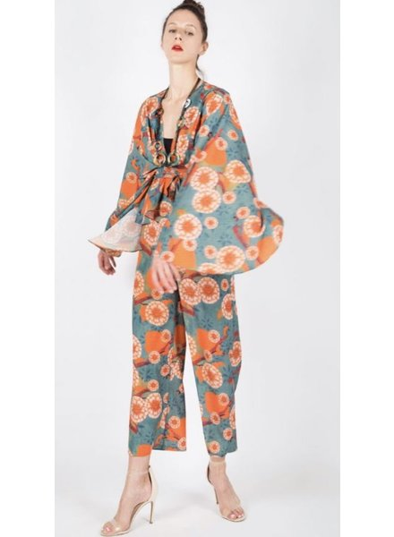 2-piece-set in all-over oriental-inspired