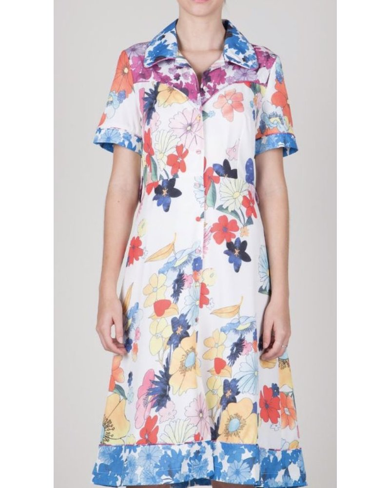 A floral printed midi-dress