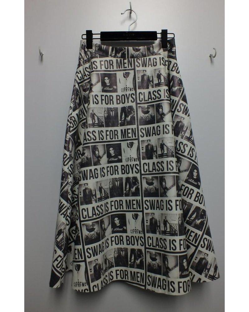 Black/white skirt