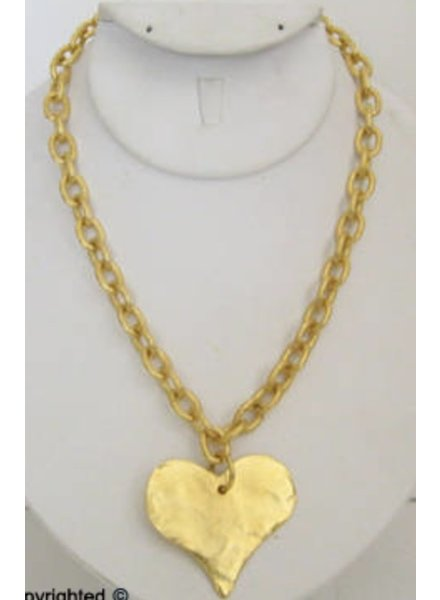 Handcast Silver or Gold  Heart Necklace
