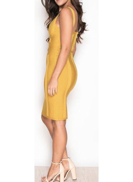 Mustard Bandage Dress
