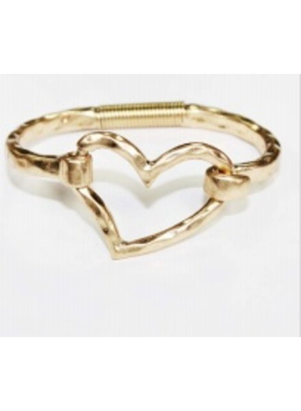 Bracelet Heart silver or gold
