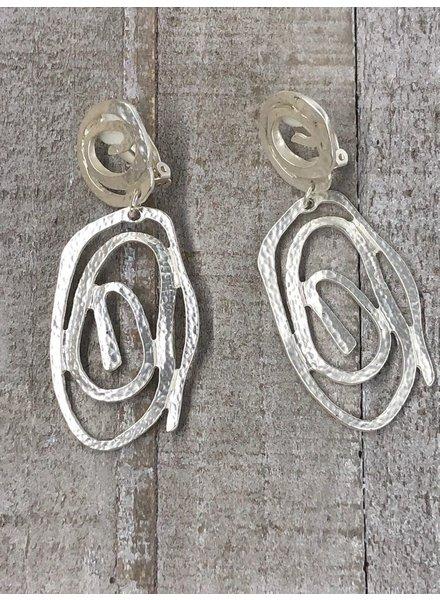 Pendientes espirales irregulares metal