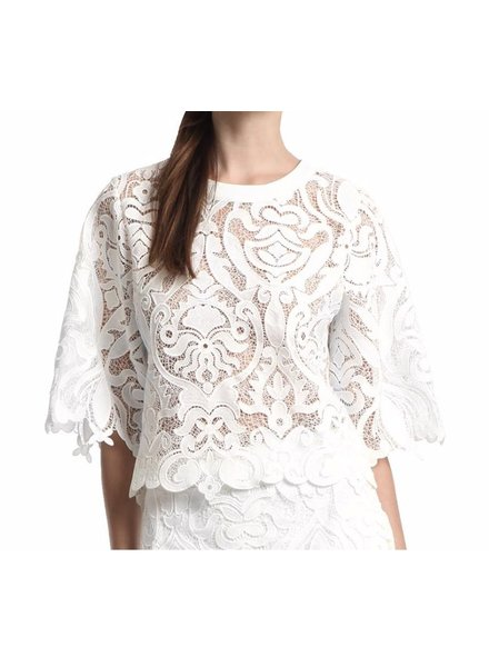 Lace Round Neck Top