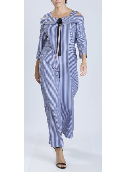 Blue Stripes Jumpsuit
