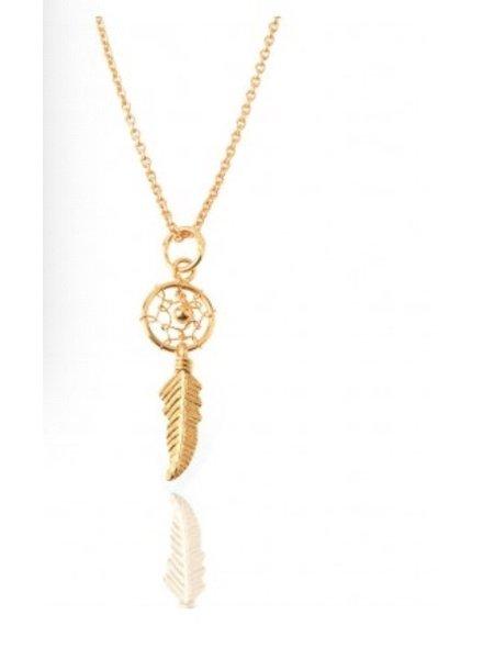 Silver Necklace Dream Catcher