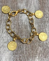Coin Bracelts Gold Plated
