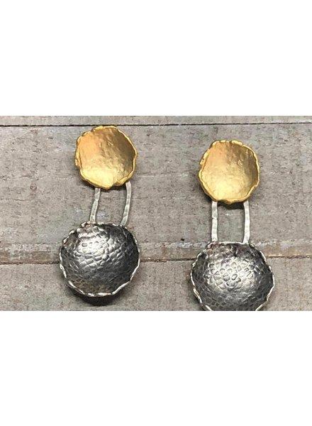 Zamac/gold plated earrings