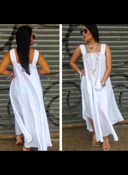 Vina Dress Long White