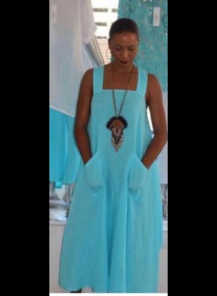 Vina Dress Long Turq
