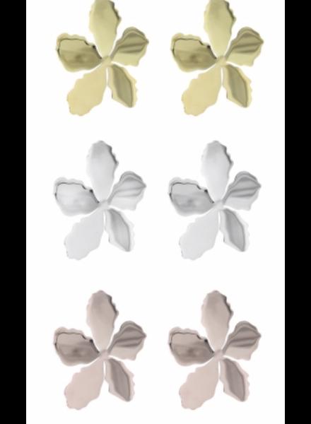 Pendiente acero flor