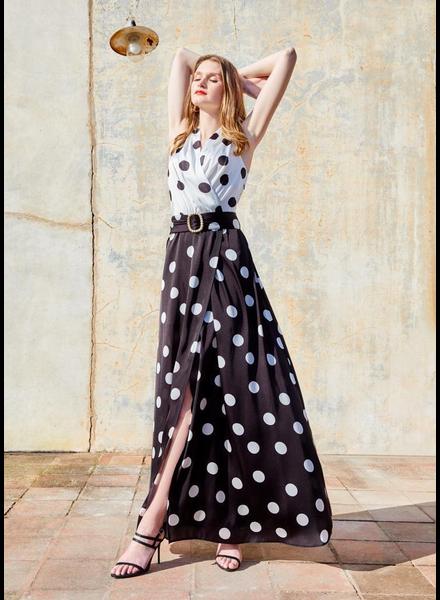 Polka A Dot/pearl Maxi dress