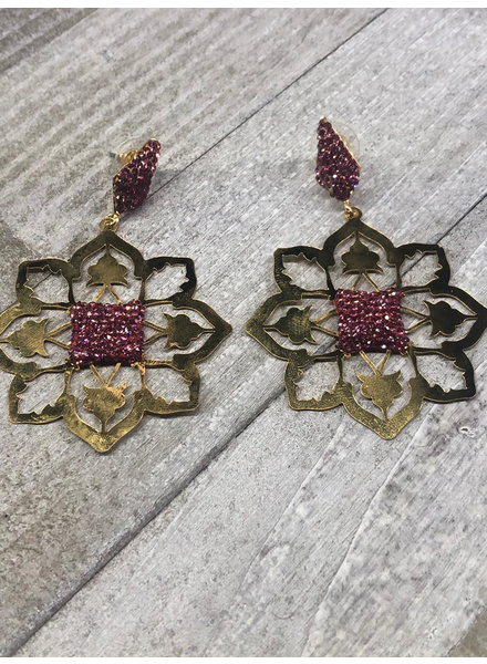 Lazer Gold Plated Earrings