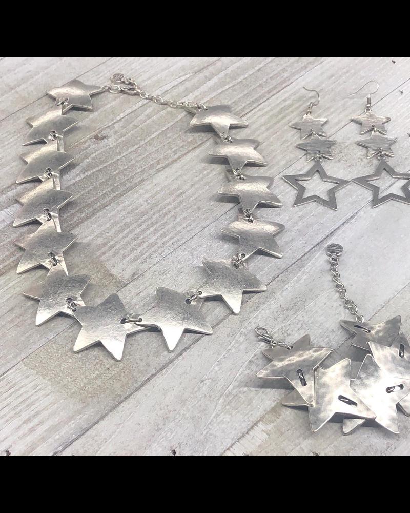 Star Set Earrings Brazalet Necklace