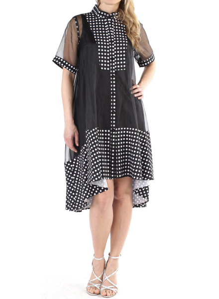 Polka dot Black and White Dress