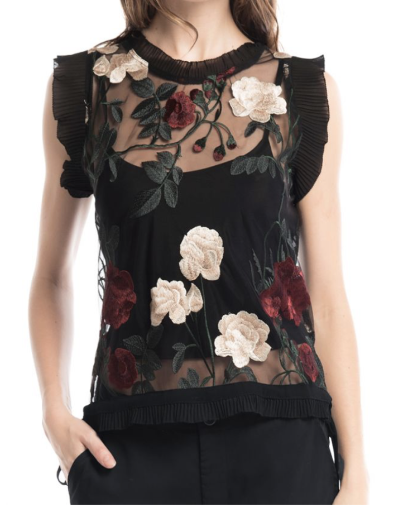 See-Through With A Flower Needlepoint Top