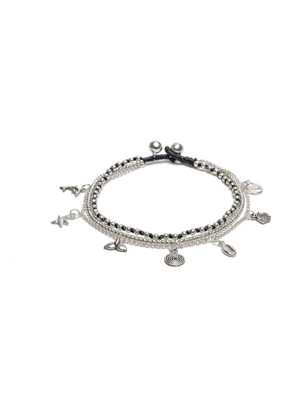 ANKLET 3 CHAIN SEA MIX