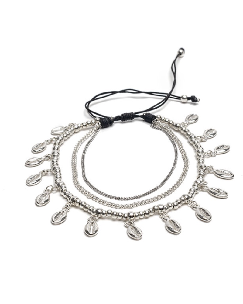 ANKLET 3 CHAINS SHELLS