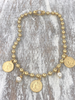 4 Soles Coin Necklace Gold Mate