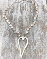 Big Heart Pearl Necklace