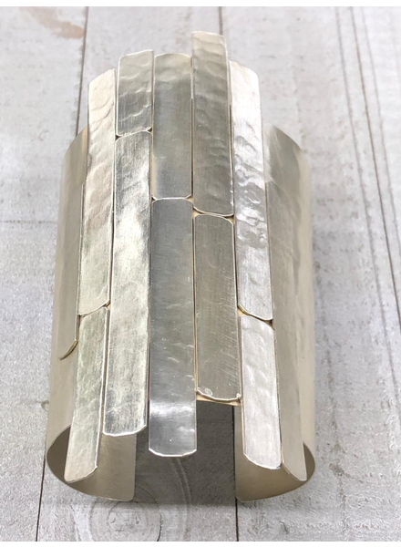 Brass Silver Plated Cuff