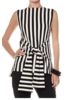 Vertical Stripe Front Tied Top