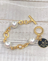 Single Chain Pearl Brazalet