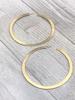 big brass earrings