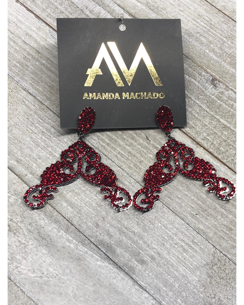 Amanda Macahado Red Earrings
