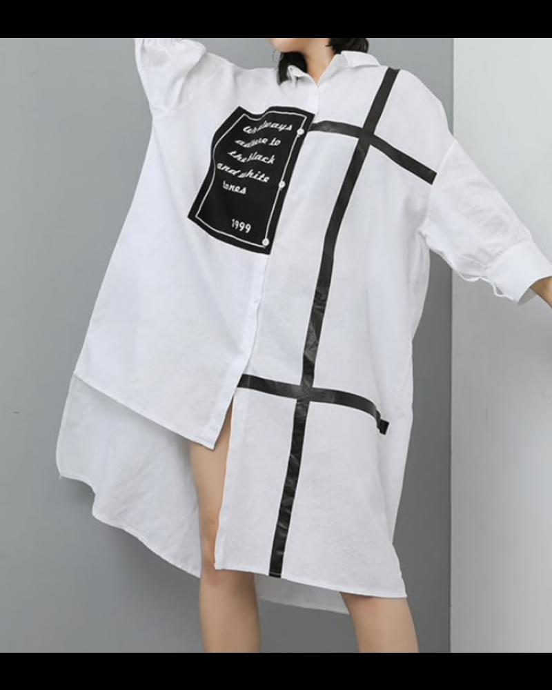 Black and White Dress/Blouse