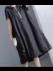 Hoodie Black Midi Dress